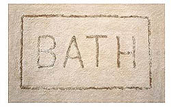 Bathroom Embroidered Mats